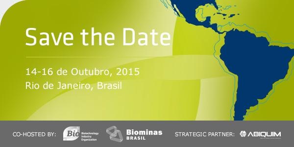 SAVE THE DATE: 14-16 de Outubro, 2015 | Rio de Janeiro, Brasil